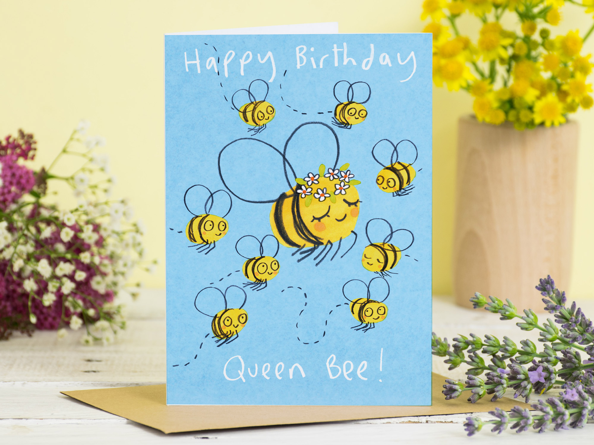 Happy Birthday Queen Bee Card Jo Clark Design